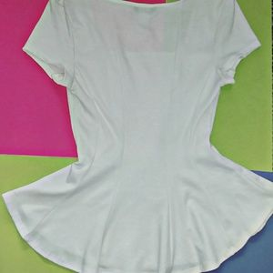 April Spirit Tops - Dressy white top
